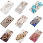 bling fashion cute crystal battery hard case cover FOR iphone 4 4S 4G +Free Glue