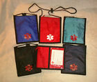 Nylon Medical Neck Wallet w/ zipper at top, clear pouch & medical symbol outside