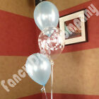 Christening Communion DIY Helium Balloon Cluster Display Baby Pink Blue White