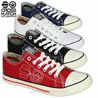 Mens Pumps Crosshatch Trainers Sneakers Shoes Lace Up Canvas Plimsolls Casual