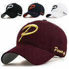 New Mens hat baseball cap Women ball cap 100% Cotton unisex hats with P letter