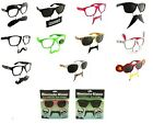 Wayfarer Style Nerdy Geek Retro Festival/Party Moustache Sunglasses & Clear View