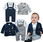 Set of 2PCS Boy's Coat + Romper One-Pieces Outfits 0-24 Month Clothing #100