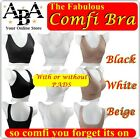 Great Value Comfi Bra, Available in all 3 colours and sizes, ahh so comfy padded