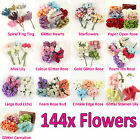 MEGA Packs of 144x Small Artificial Flowers for Scrapbooking, Embellishments