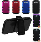 TUFF Hybrid Hard Armor Case Cover Holster Belt Clip Combo Samsung Galaxy S3 III