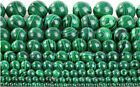 Natural Genuine Malachite Gemstone Round Loose Spacer Beads 15.5'' Strand 4-20MM