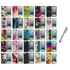Flower Design Hard Rubberized Cover Case+Metal Pen for iPod Touch 5th Gen 5G