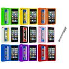 Silicone Cassette Tape Retro Cover Case+Metal Pen for iPod Touch 4th Gen 4G