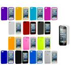 Color Silicone Rubber Soft Case Cover Accessory+Screen Protector for iPhone 5 5G