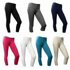 NEW LADIES JERSEY CROPPED LEGGINGS SIZES 8-16