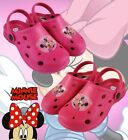 GIRLS MULES SANDALS SHOES SIZES 7, 8.5, 10, 11.5 PINK MINNIE MOUSE MULES