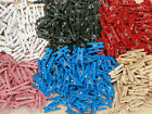 100 mini pegs assorted colours **craft projects**card making**red*blue + more