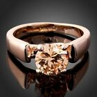 Austrian Topaz citrine Crystals Ladies Girls ARINNA 18k Rose Gold GP Finger Ring