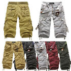 5Colors Men Casual Army Cargo Combat Camo Cotton Overall Shorts Sports Pants New