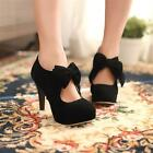 New fashion women's shoes round head bowknot high heels ankle shoes 2 colors