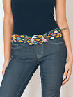 Jenny Krauss Wool Embroidered Tapestry Leaf Belt S M L Olive Green Eco Fair