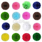 12 Tissue Paper Pom Poms Wedding Party Bridal Outdoor Decor Favor Multicolor 8""