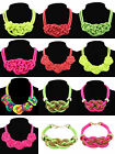 Fashion Fluorescent Color Necklace Collar Handmade Cotton Rope Knit Woven Punk