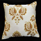 HC103a Brown Olive Gold threads Jacquard Cushion Cover/Pillow Case*Custom Size