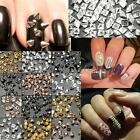 Punk 3D Nail Art Metal Bullet Alloy Rivet Studs Stick Phone Spikes Glitters DIY