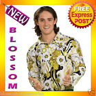 C758 Green Groovy Shirt 60's Leisure Fancy Dress Adult Costume