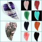 "70mm Large carved semi-precious stone leaf pendant focal bead 2 3/4"" Wholesale"