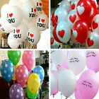 25 Pcs Heart Love Printed Balloons Wedding Birthday Party Decor Latex Balloons