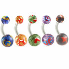 belly button rings glitter navel piercing bar earrings body steel jewellery 9KAC