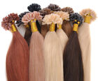 "18""-22""100pc 50g Straight Remy Real Nail Tip U Tip Human Hair Extension 11Colors"