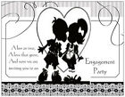Silhouette KISSING KIDS Engagement PARTY Postcards or Flat Cards Envelopes Seals