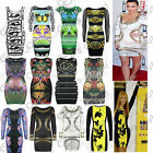 Womens Pencil Party Tunic Rihanna Ladies Celebrity Short Bodycon Top Mini Dress