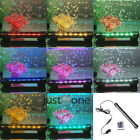 Aquarium Underwater Fish Tank Plant Bubble Light Lamp & Remote 16/ 31/ 47cm RGB