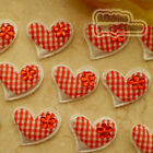 Red Gingham Heart Felt Appliques Padded Craft Sewing Scrapbooking Trim New