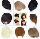 Lady's Clip On Clip In Front Hair Bangs Fringe Hair Extension Straight Cosplay