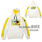 New Official Valentino Rossi VR46 Sun And Moon White VR 46 Mens Fleece Hoodie