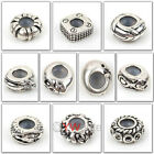 Free Ship 10pcs Mixed Pattern Tibetan Silver Rubber Stopper European Charm Beads