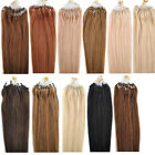 "100pcs/50g 20"" 4A+ Grade Remy Micro Ring Loop Hoop Human Hair Extension 11Colors"