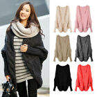 New Knitting Batwing Coat Cardigan Loose The Shawl Women's Clothing Thicken Coat