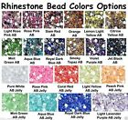 2000pcs 18 Colors Acryl Rhinestone Crystal Half Round Flatback Beads Gems 2-5mm