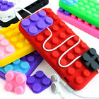 For Apple iPhone 5C Colorful Toy Blocks Silicone Rubber Gel Soft Case Cover