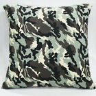 AL246a Camouflage Army Green Pure Cotton Canvas Fabric Cushion Cover/Pillow Case
