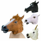 Horse Head Rubber Latex Panto Creepy Fancy Dress Mask Costume Halloween