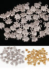 100 Pcs Antique Silver/Golden Cute Fish Shape Charms Pendants For Jewelry Making