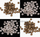 100Pcs Antique Sliver/Bronze Zinc Alloy Leaf Shaped Spacer Beads Jewelry Finding