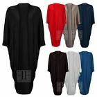 WOMENS LADIES SHORT SLEEVE PLAIN BATWING OPEN BOYFRIEND LONG MAXI DRESS CARDIGAN
