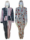 KIDS BOYS GIRLS PRINT HOODED ONESIE JUMPSUIT AGES ALL IN ONE UK SIZE 8 - 13 YEAR