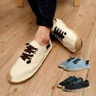 Canvas Casual Lace Up Espadrille Shoes fashion mens round toe shoes   [HA]