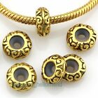 Wholesale Antique Gold Plated Stopper Rubber Charm Beads Fit Bracelet K36