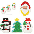 Wholesale 100pcs  Wooden Painting Pendant Xmas Tree Decor Hanging Gift 5Styles